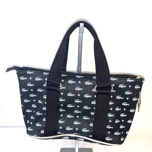 Lacoste black nylon handbag
